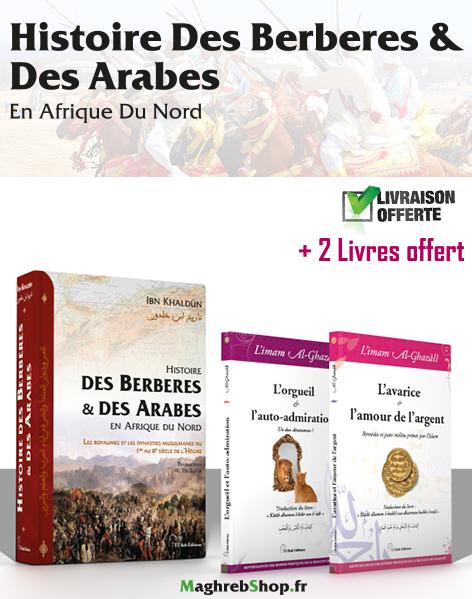 Histoire des berberes & des arabes en afrique du nord + 2 livres offert